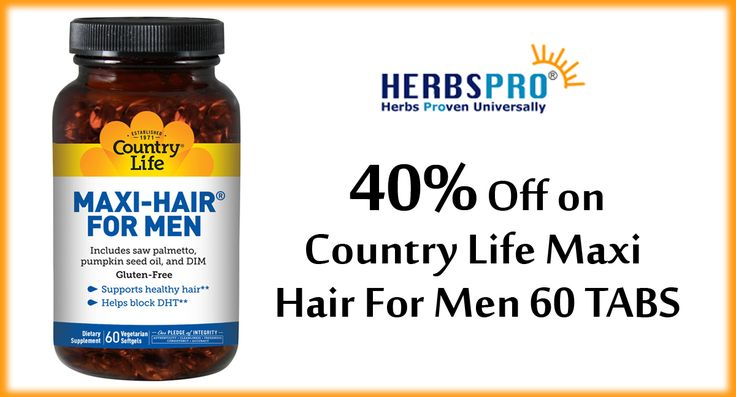 Herbspro Get 40 Off On Country Life Maxi Hair For Men 60 Tabs Herbsprocoupon Supplements Herbal Health Coupon Codes Pinterest