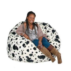 Cozy Sack Bean Bag Chair Cow Print - Large 4'