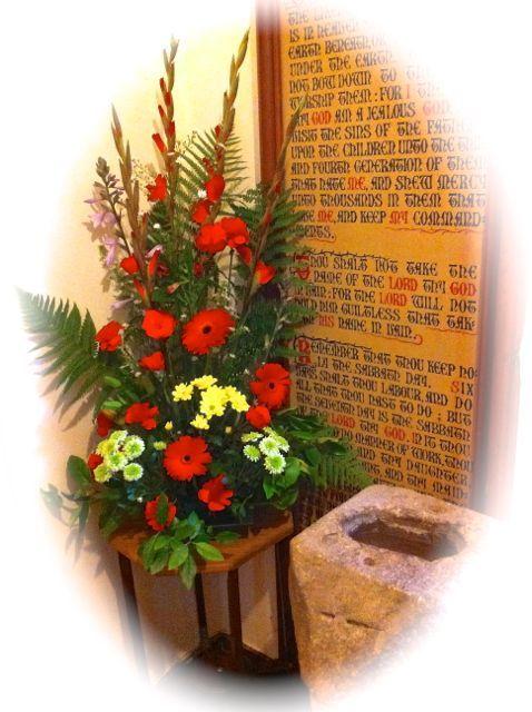 Floral Arrangements For Pentecost   Welcome flowers