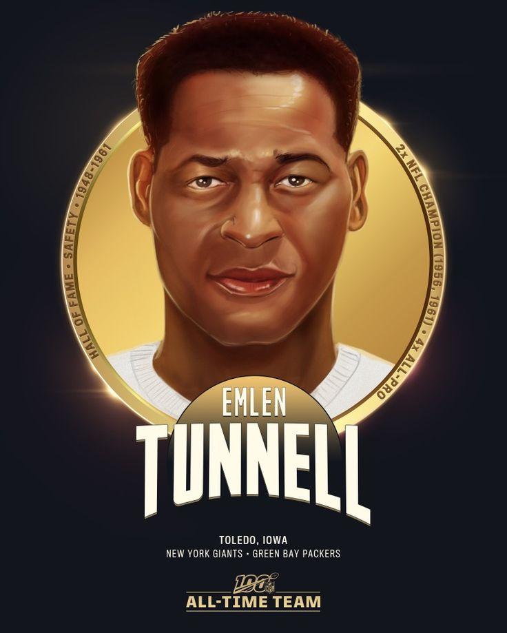 Emlen tunnell nfl 100 all time team nfl football art