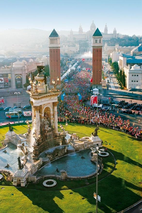 Marató Barcelona 2012. La plaza de Espanya.