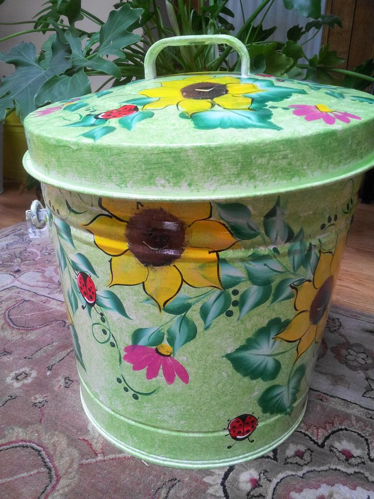 6 Gallon Hand Painted Can  krystasinthepointe.com - ETSY
