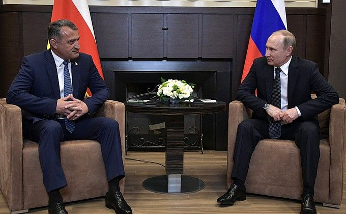 Meeting with President-elect ofSouth Ossetia Anatoly Bibilov • President ofRussia