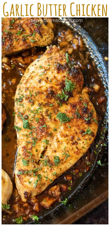 Garlic Butter Chicken Recipe In 2020 Easy Chicken Recipes Healthy Chicken Recipes Vegan Recipes Easy