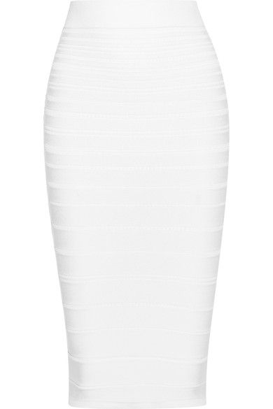 Cushnie et Ochs - Ribbed Stretch-knit Pencil Skirt - Ivory