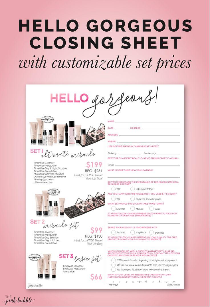 Hello Gorgeoust Sheet Beauty Consultanta Projectmary Kay