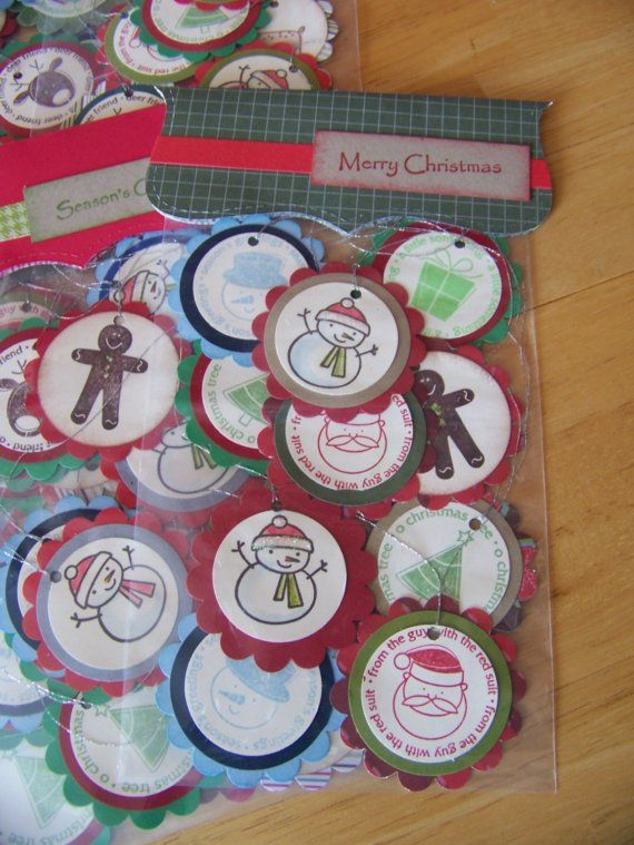 stampin up reindeer | Christmas tags handstamped stampin up by wkburden on Etsy