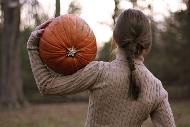 Autumn: pumpkins, sunsets and cable knit sweaters