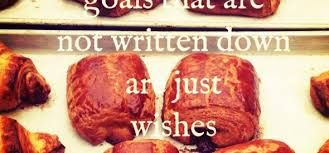 Goals not written down are just wishes