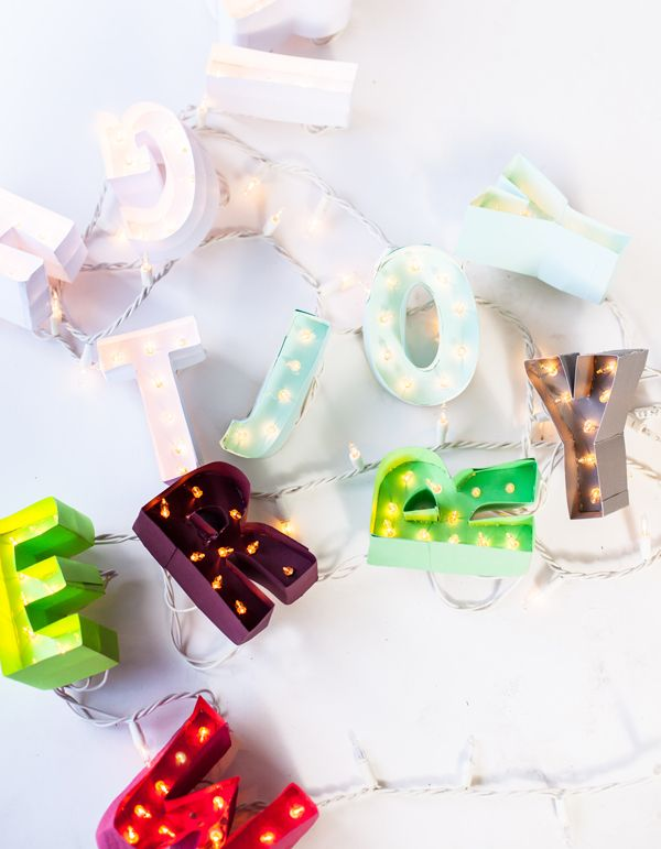 bright miniature marquee garland
