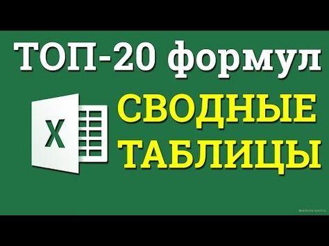 ТОП-20 формул Excel на каждый день
