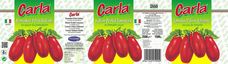 Whole Peeled Tomatoes 3000g Carla Brand in natural Tomato Juice