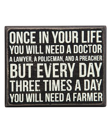 Another great find on #zulily! 'Need a Farmer' Box Sign #zulilyfinds