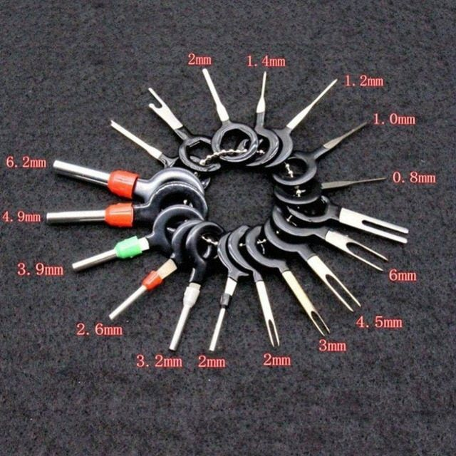 8Pcs//Set Terminal Removal Tools Electrical Wiring Crimp Connector Pin Extractor