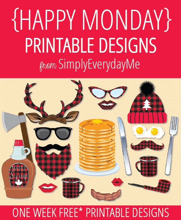 CLICK HERE TO DOWNLOAD FREE PRINTABLES {HELLO MONDAY}... and Happy Lumberjack Day!!! So in honor of this fun filled wood-chip, buffalo p...