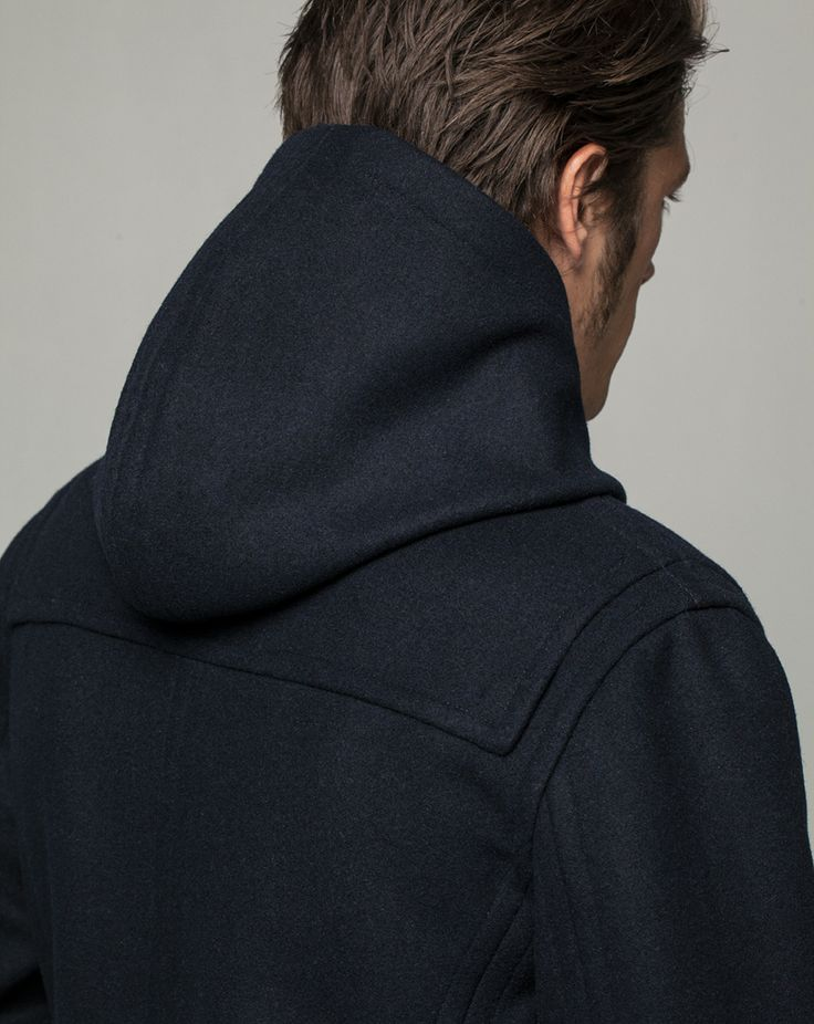 Workshop Denim Duffle Coat - Navy
