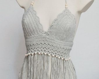Weißen Bikini-Top schöne große Größe Top BH von SexyCrochetDesign