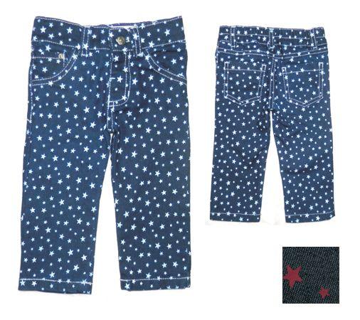 a5cd7d447b Pantalón Recto de Denim Elastizado Estampado ART. 513