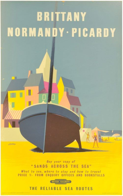 Railway Posters, Brittany, Lander