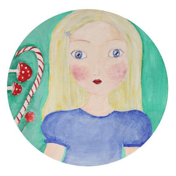 Alice in wonderland Art print  Poster Magic by NataliesWunderland