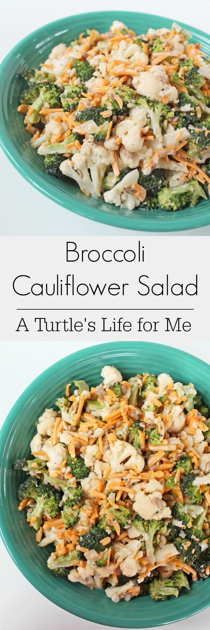 Broccoli Cauliflower Salad Recipe- A Turtle's Life for Me