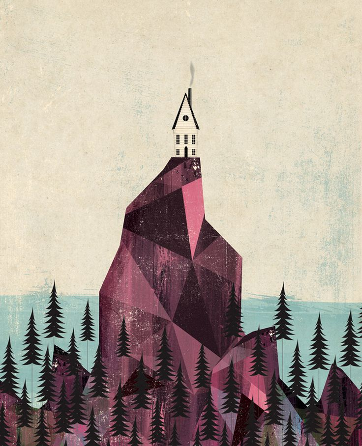 """""""Cliff House"""" by Andrew Bannecker- inspired by Maine.: Art Illustrations, Bannecker Illustration, Cliff House, Illustration Inspiration, Artist, Design"""