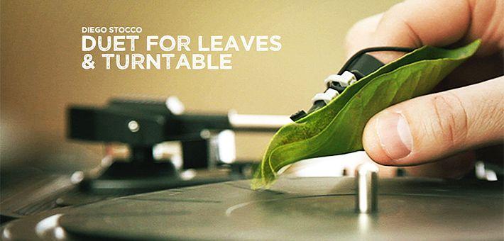 Ντουέτο για… φύλλα και πικάπ! – Ένα μουσικό πείραμα απο τον Diego Stocco