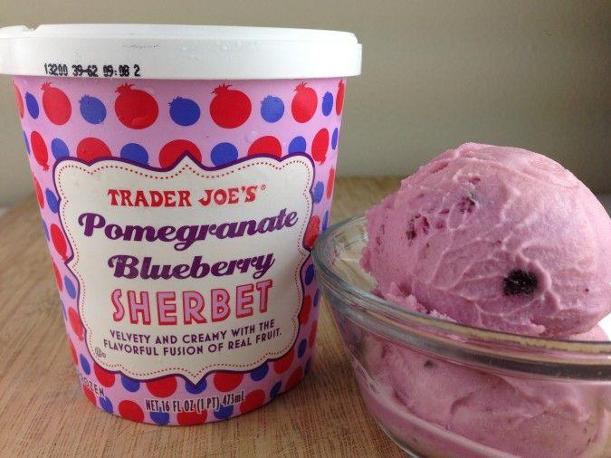 Trader Joe's Pomegranate Blueberry Sherbet - 4 Points + - LaaLoosh