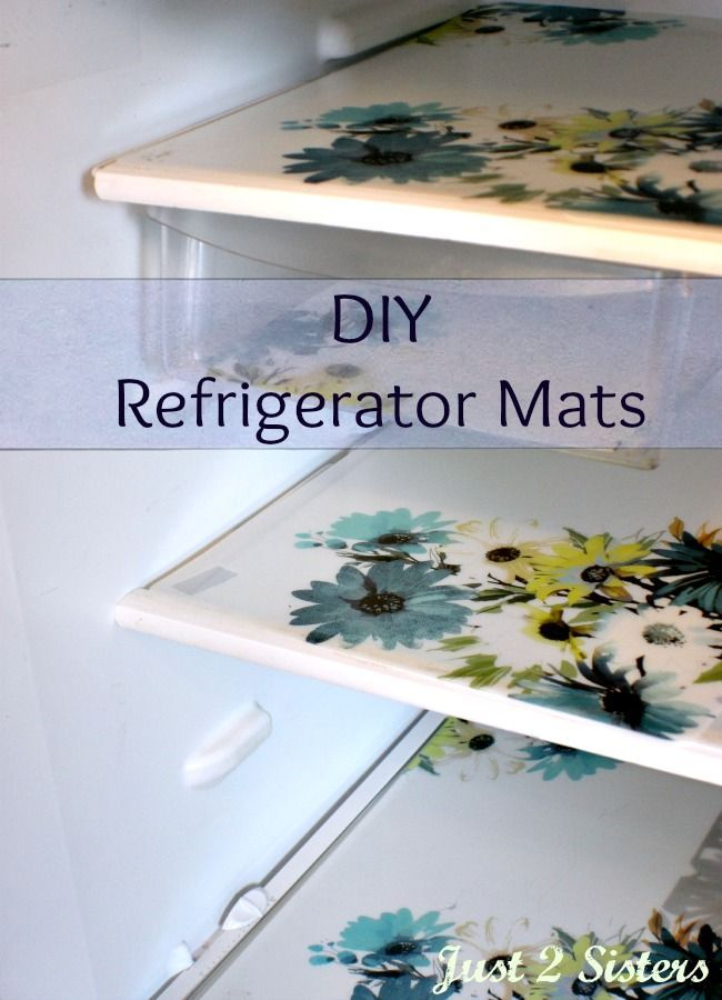 Make clean up an ease with DIY Refrigerator Mats - #PalmoliveMultiSurface #Ad