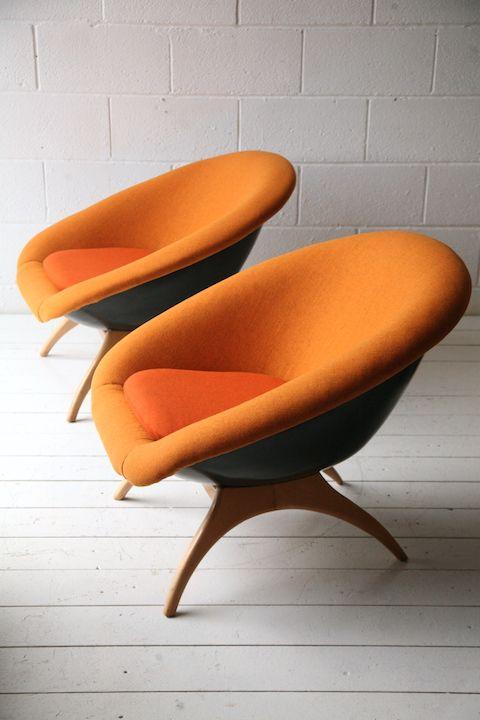 pair-of-1960s-lurashell-chairs // See more from digital hoarder Monsieur EZ~Beat! @  https://www.pinterest.com/MonsieurEZBeat/©