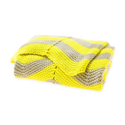 Chevron Throw Bright Yellow