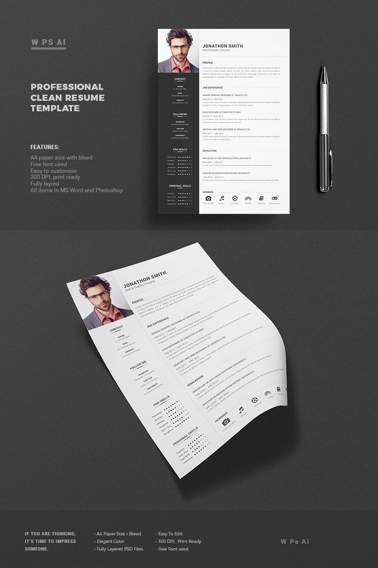 Professional Resume CV Template with super