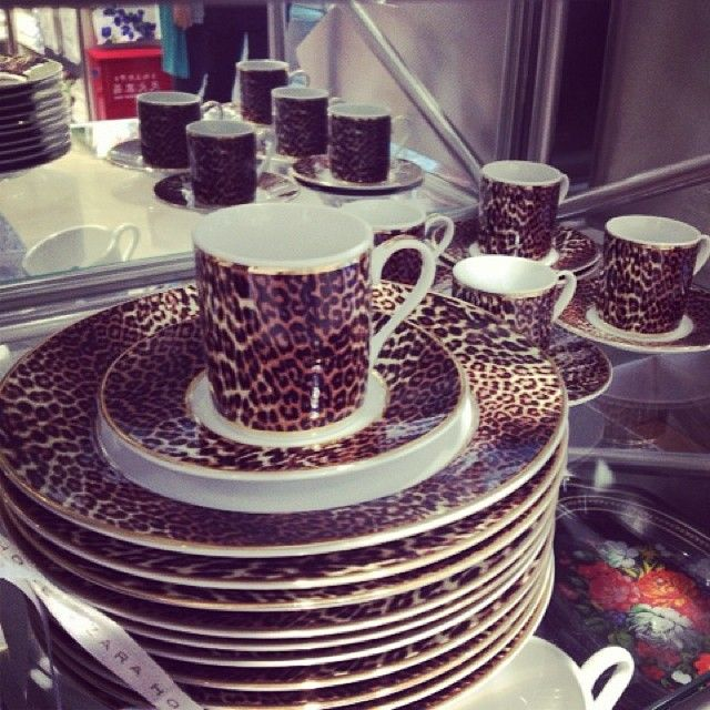 Finally found some leopard plates! & 155 best dinnerware images on Pinterest | Dish sets Animal prints ...