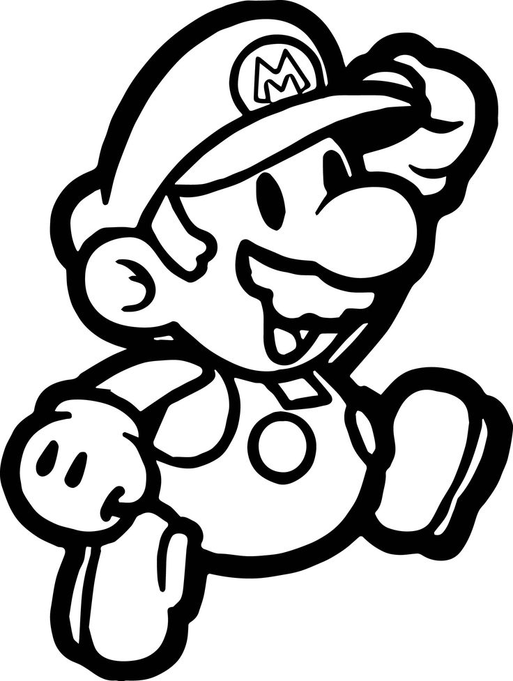 awesome Paper Mario Coloring Page Tattoos! Mario
