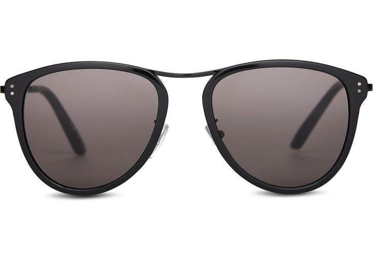 TOMS - Franco Shiny Black Sunglasses / Dark Grey Lenses