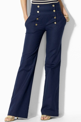 Lauren by Ralph Lauren Pants, Fisher with Sailor Buttons, $100, available at Macy's.