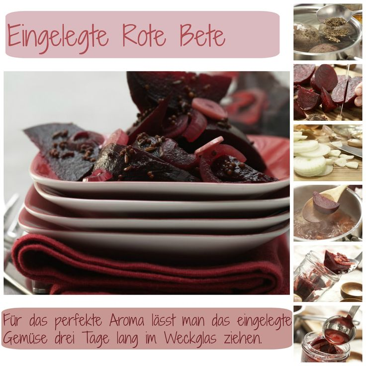 eingelegte rote bete smarter rezept rezepte mit rote bete pinterest rote bete. Black Bedroom Furniture Sets. Home Design Ideas