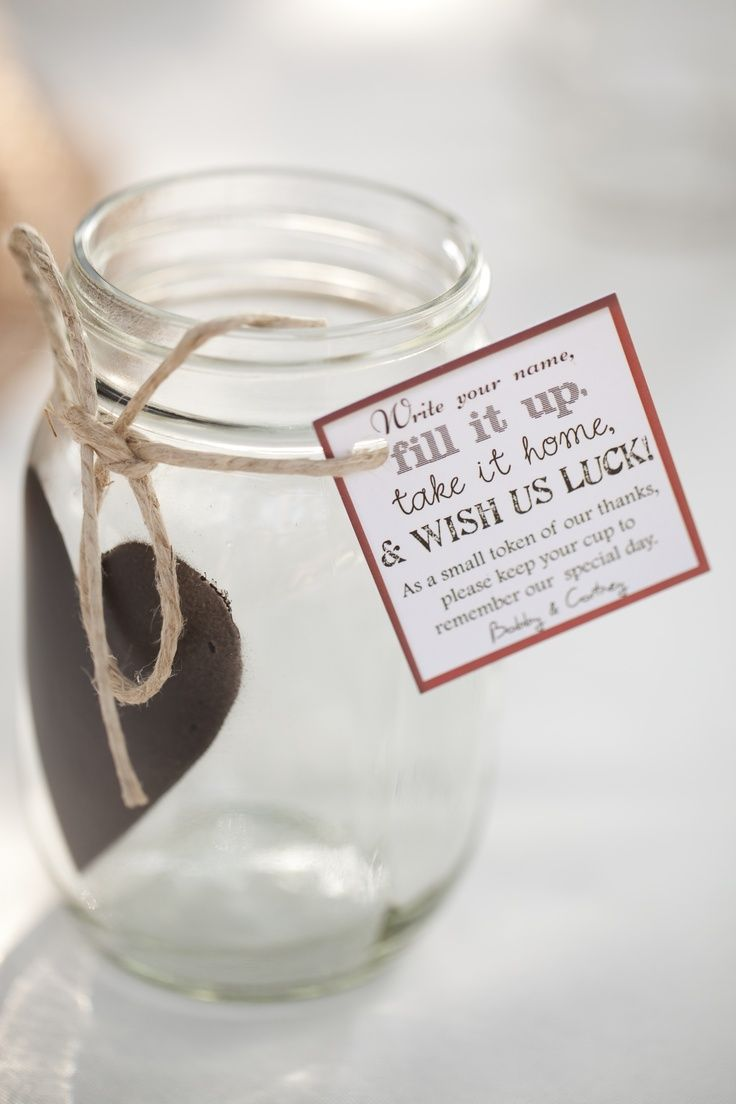 Mason Jar Wedding Favors | Chalkboard mason jars as wedding favors... LOVE! Id ... | Weddings!!