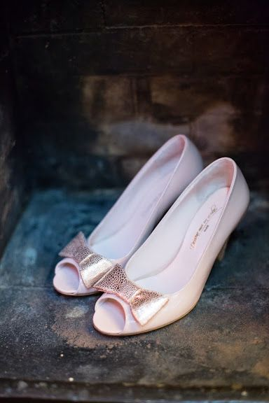 Chaussure ouverte devant noeud rose poptoe bow pink #dessinemoiunsoulier #ingridlepan