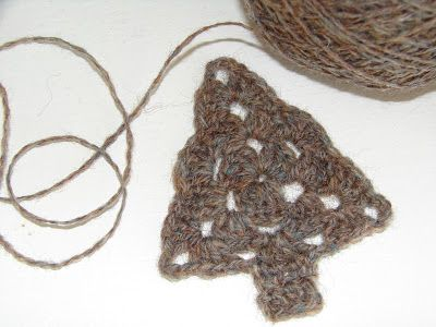 filihunkat: Diagram-diy på hæklet juletræ