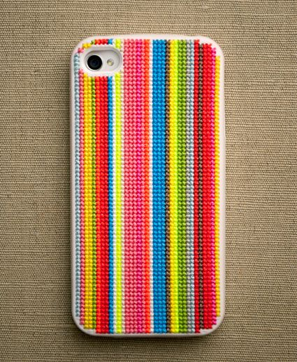 Cross-Stitch Your Own iPhone Case via Brit + Co. - project for an upcoming rainy weekend?!
