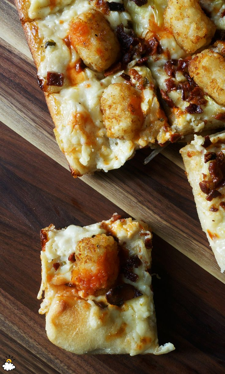 This Loaded Tater Tot Pizza recipe is sure to become a favorite.