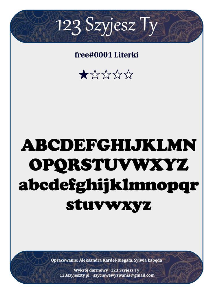 Literki wykrój do pobrania/ letters sewing pattern free
