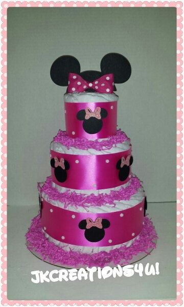 How To Make A Minnie Mouse Motorcycle Diaper Cake