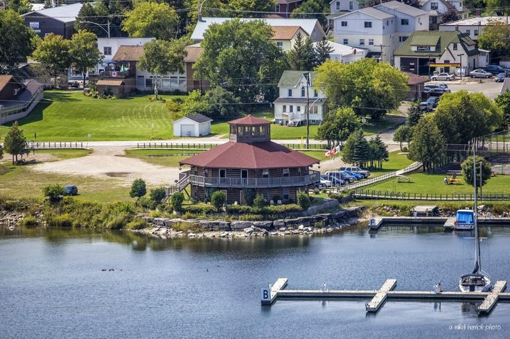 Red Roof Pavilion on the Gore Bay Waterfront by Mikell Herrick