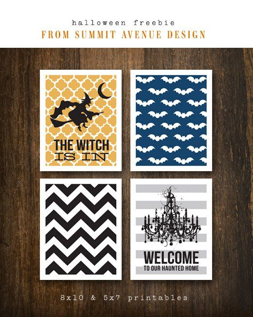Free Halloween printables: Printable Freebies, Halloween Freebies, Halloween Cards, Cute Halloween Decor, Free Halloween, Halloween Printable, Free Printable, Halloween Signs, Chevron Stripes