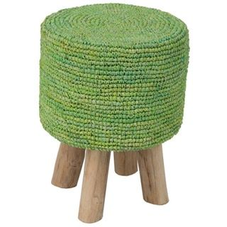 Goldendale Crafted Accueil Decorative Round Lime Green Tabouret
