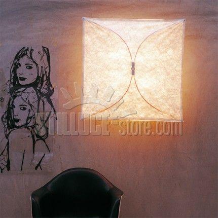 Flos Ariette 1 Lampada da parete o soffitto a luce diffusa. Diffusore in tessuto sintetico. Attacco a muro in poliammide caricata con il 30% di fibra di vetro.
