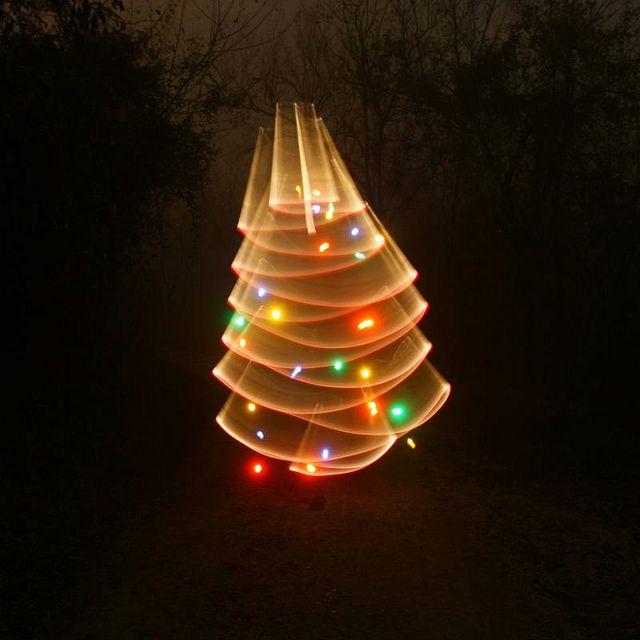 Signes De Lumière - foggy xmas - christmas - light painting - light art - photography - 11/12/2011