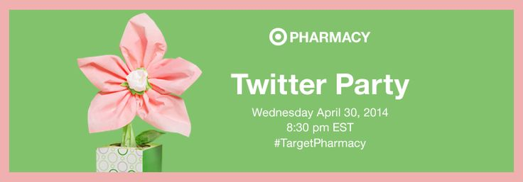 Please join us for the Target Pharmacy Twitter Party. Date of twitter party is Wednesday April 30, 2014 at 8:30pm EST. Please be sure to follow @TARGETCANADA on twitter.  (image dimensions 839 x 197 pixels)